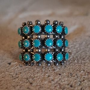 Turquoise Sterling Silver Native American Ring S6